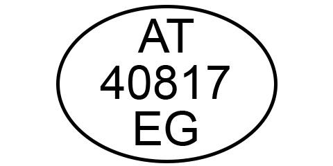 AT-40817-EG Veterinärskontrollnummer